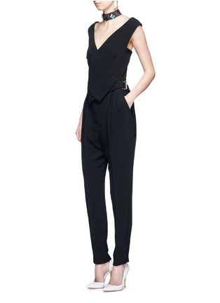 Figure View - Click To Enlarge - Lanvin - Buckled waist tailored suiting jumpsuit