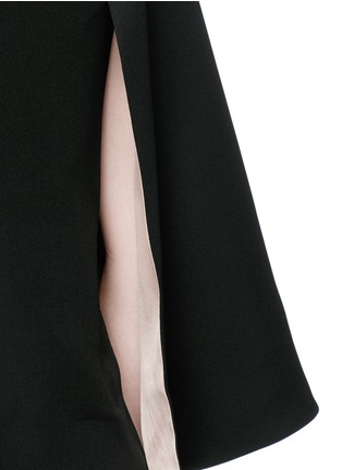 Detail View - Click To Enlarge - Valentino - Open back batwing sleeve silk top