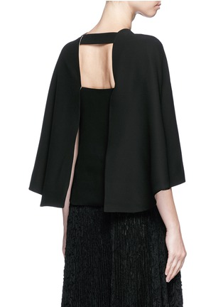 Back View - Click To Enlarge - Valentino - Open back batwing sleeve silk top