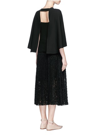 Figure View - Click To Enlarge - Valentino - Open back batwing sleeve silk top