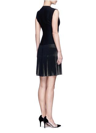 Back View - Click To Enlarge - Alaïa - 'Seguidille' plissé pleat knit dress