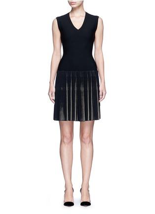 Main View - Click To Enlarge - Alaïa - 'Seguidille' plissé pleat knit dress