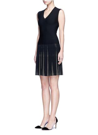 Figure View - Click To Enlarge - Alaïa - 'Seguidille' plissé pleat knit dress