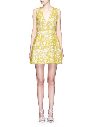 Main View - Click To Enlarge - alice + olivia - 'Pacey' floral lace lantern dress