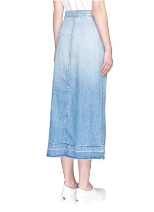 Back View - Click To Enlarge - CURRENT/ELLIOTT - 'The Sally' raw hem button skirt