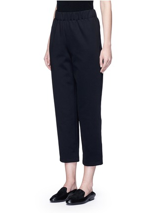 Front View - Click To Enlarge - THE ROW - 'Leanne' elastic waist scuba jersey cropped pants