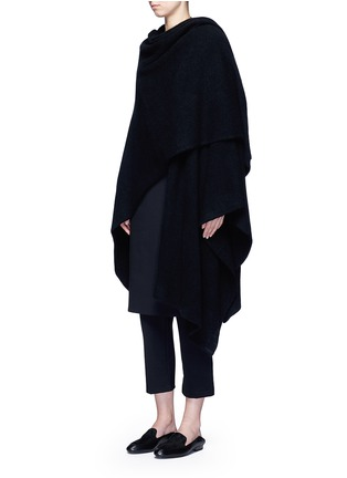 Figure View - Click To Enlarge - THE ROW - 'Leanne' elastic waist scuba jersey cropped pants