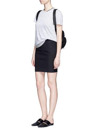 Figure View - Click To Enlarge - rag & bone/JEAN - 'Summer Stripe' textured linen-cotton T-shirt