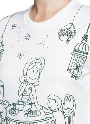 Detail View - Click To Enlarge - Dolce & Gabbana - Victorian Garden print jersey T-shirt