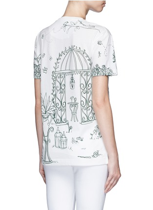 Back View - Click To Enlarge - Dolce & Gabbana - Victorian Garden print jersey T-shirt