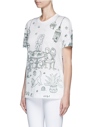 Front View - Click To Enlarge - Dolce & Gabbana - Victorian Garden print jersey T-shirt