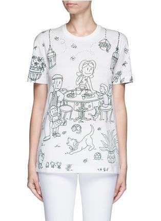 Main View - Click To Enlarge - Dolce & Gabbana - Victorian Garden print jersey T-shirt