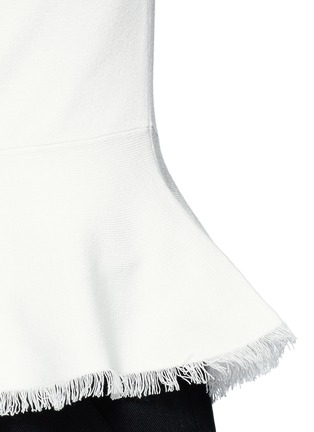Detail View - Click To Enlarge - Theory - 'Briselle' frayed hem knit tank top