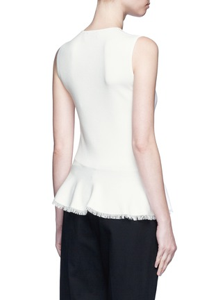 Back View - Click To Enlarge - Theory - 'Briselle' frayed hem knit tank top