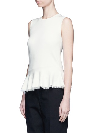 Front View - Click To Enlarge - Theory - 'Briselle' frayed hem knit tank top