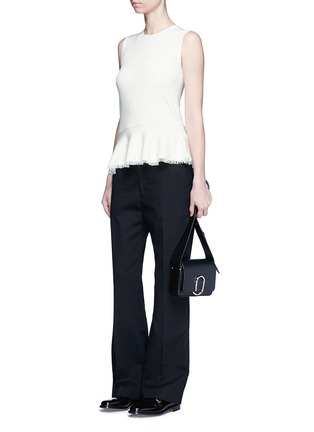 Figure View - Click To Enlarge - Theory - 'Briselle' frayed hem knit tank top
