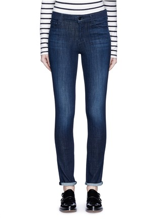 Detail View - Click To Enlarge - J BRAND - 'Skinny' mid rise cropped jeans