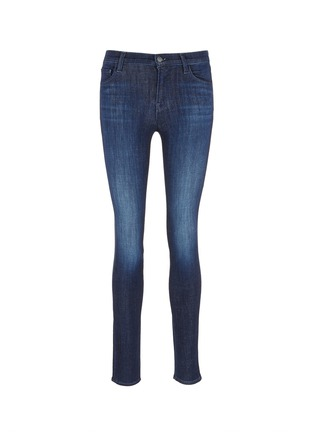 Main View - Click To Enlarge - J BRAND - 'Skinny' mid rise cropped jeans
