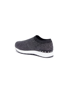 WiNK 'Liquorice' low top knit kids sneakers