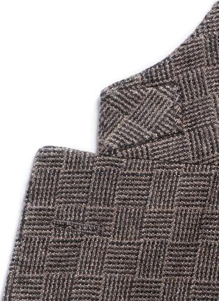 Detail View - Click To Enlarge - Boglioli - 'K-Jacket' check cashmere-wool soft blazer