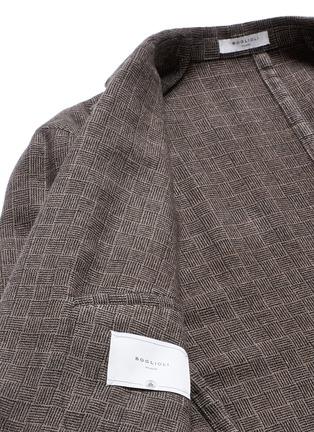- Boglioli - 'K-Jacket' check cashmere-wool soft blazer