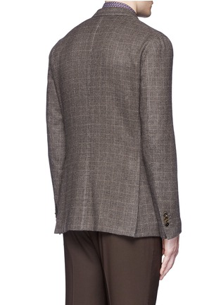 Back View - Click To Enlarge - Boglioli - 'K-Jacket' check cashmere-wool soft blazer