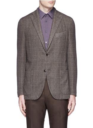 Main View - Click To Enlarge - Boglioli - 'K-Jacket' check cashmere-wool soft blazer