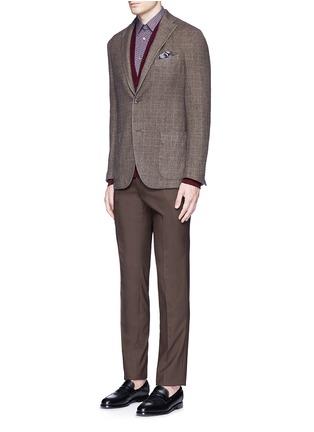 Figure View - Click To Enlarge - Boglioli - 'K-Jacket' check cashmere-wool soft blazer