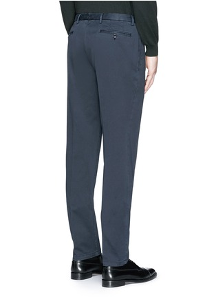 Back View - Click To Enlarge - Boglioli - Slim fit stretch cotton chinos