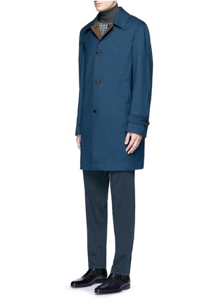 Front View - Click To Enlarge - Boglioli - Reversible wool and shell car coat