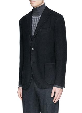 Front View - Click To Enlarge - BOGLIOLI - 'K-Jacket' wool flannel soft blazer