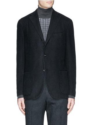 Main View - Click To Enlarge - BOGLIOLI - 'K-Jacket' wool flannel soft blazer