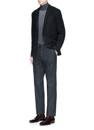 Figure View - Click To Enlarge - BOGLIOLI - 'K-Jacket' wool flannel soft blazer