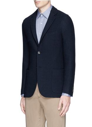 Front View - Click To Enlarge - Boglioli - 'Casati' textured wool knit soft blazer