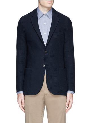 Main View - Click To Enlarge - Boglioli - 'Casati' textured wool knit soft blazer
