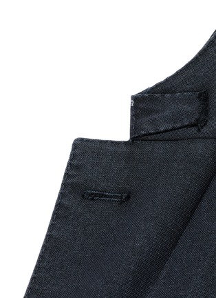 Detail View - Click To Enlarge - Boglioli - 'K-Jacket' wool hopsack soft blazer