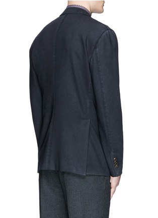 Back View - Click To Enlarge - Boglioli - 'K-Jacket' wool hopsack soft blazer