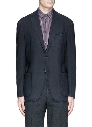 Main View - Click To Enlarge - Boglioli - 'K-Jacket' wool hopsack soft blazer
