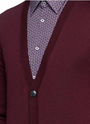 Detail View - Click To Enlarge - Boglioli - Wool cardigan