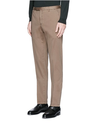 Front View - Click To Enlarge - Boglioli - Slim fit stretch cotton chinos