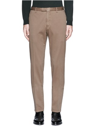 Main View - Click To Enlarge - Boglioli - Slim fit stretch cotton chinos
