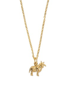 Patcharavipa 18k yellow gold ox pendant necklace