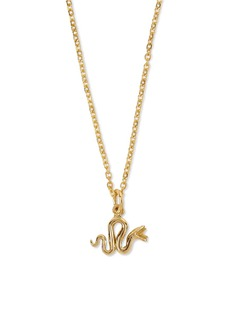 Patcharavipa 18k yellow gold serpent pendant necklace