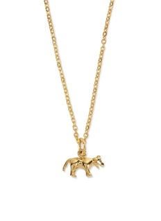 Patcharavipa 18k yellow gold tiger pendant necklace