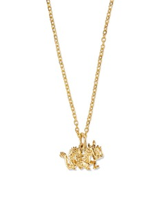 Patcharavipa 18k yellow gold dragon pendant necklace