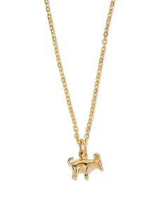 Patcharavipa 18k yellow gold goat pendant necklace