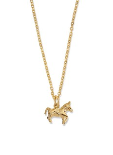 Patcharavipa 18k yellow gold horse pendant necklace