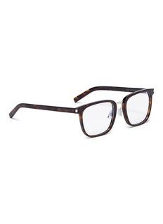 SAINT LAURENT Tortoiseshell-effect acetate square optical glasses