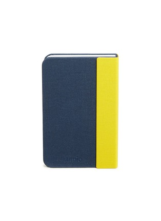 Main View - Click To Enlarge - LUMIO - Mini Lumio+ folding book lamp – Navy/Yellow
