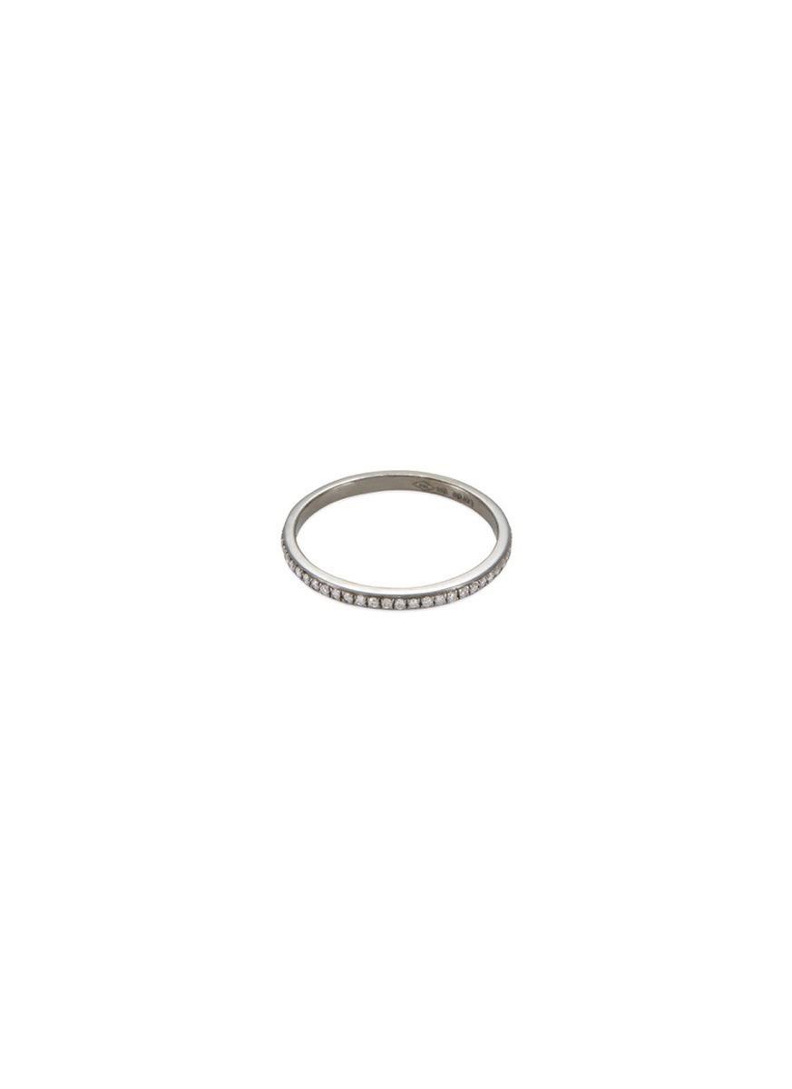 'Eternity' diamond 18k black gold ring